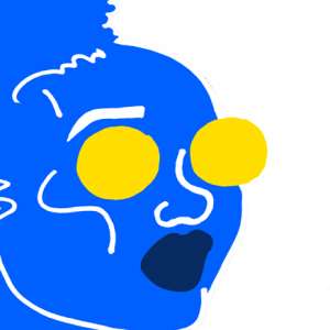 reddit gets drawn blue white portrait by rory doyle